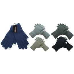 Knit unisex touch glove 36 pack