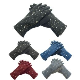 Lady's star gloves 72 pack