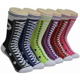 Women's Sneaker Printed Socks 360 pack