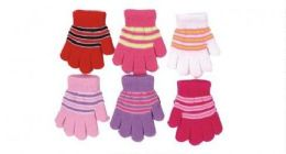 Toddler Girls Winter Magic Glove Stretchy Warm 60 pack