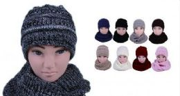 Womens Girls Fashion Winter warm Knitted Hat And Beanie Set 24 pack