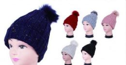 Women Cable Knit Beanie Thick Soft And Warm Chunky Beanie Hats 36 pack