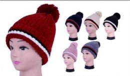 Women Winter Trendy Warm Oversized Chunky Stretchy Skully Beanie Hat 36 pack