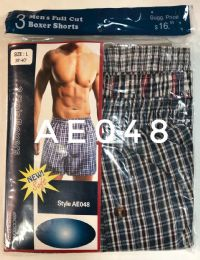 Mens Boxer Shorts Plaid Print 144 pack