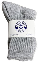 Yacht & Smith Kids Premium Cotton Crew Socks Gray Size 6-8 240 pack