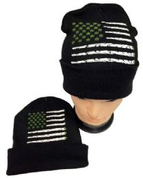 Marijuana Flag Winter Beanie Hat 36 pack