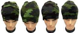 Winter Skull Cap Ski Cap Camo Color 36 pack