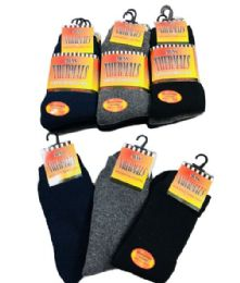 Men's Thermal Crew Socks 10-13 60 pack