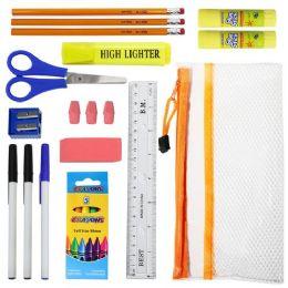 22 Piece Wholesale Kids School Supply Kits