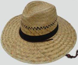 Adults Large Straw Hat With Chinstrap 30 pack