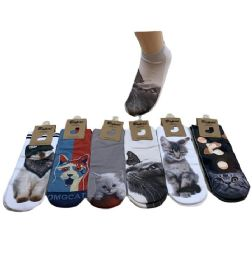 Women's Cats Thin Casual No Show Socks 36 pack