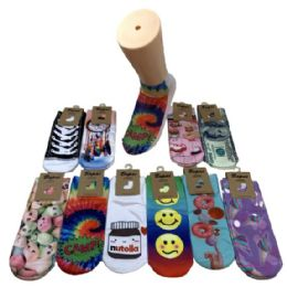 Women's Fun Prints Thin Casual Ankle Socks 36 pack