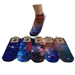 Women's Galaxy Print Casual Ankle Socks 36 pack