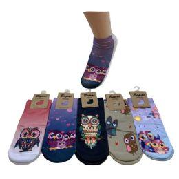 Women's Owl Print Casual Ankle Socks 36 pack