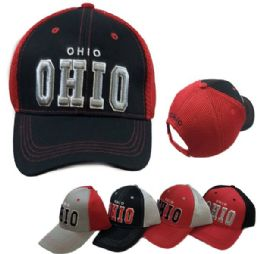 Ohio Air Mesh Back Solid Front Ball Cap New York 36 pack