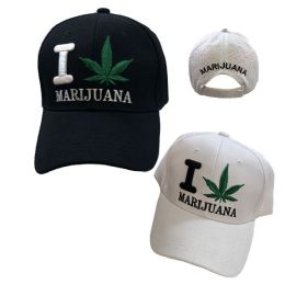 I [Leaf] Marijuana Ball Cap 36 pack