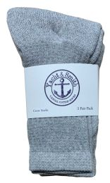 Yacht & Smith Kids Premium Cotton Crew Socks Gray Size 4-6 BULK PACK 240 pack