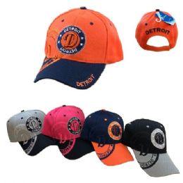 Detroit Shadow Base Ball Cap 36 pack