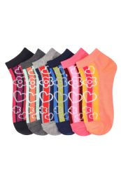 GIRLS ANKLE SOCK ADAGIO PRINTED DESIGN SIZE 9-11 432 pack