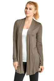 ET TU LADIES RAYON CARDIGAN IN TAUPE 124 pack