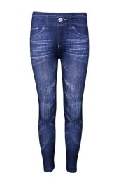 SOFRA GIRLS PRINTED JEANS IN BLUE 72 pack