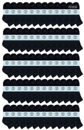 Yacht & Smith Wholesale Kids Mid Ankle Socks, With Free Shipping Size 6-8 (Black) 72 pack
