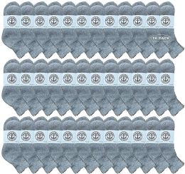 Yacht & Smith Wholesale Kids Mid Ankle Socks, With Free Shipping Size 6-8 (Gray) 36 pack