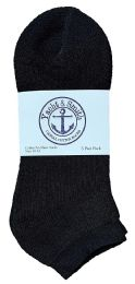Yacht & Smith Men's Wholesale Bulk No Show Ankle Socks,With Free Shipping - Size 10-13 (Black) 120 pack
