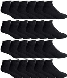 Yacht & Smith Men's Wholesale Bulk No Show Ankle Socks, With Free Shipping - Size 10-13 (Black) 24 pack