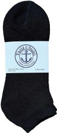 Yacht & Smith Men's Wholesale Bulk No Show Ankle Socks, With Free Shipping - Size 10-13 (Black) 72 pack