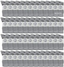 Yacht & Smith Men's Wholesale Bulk Cotton Socks, With Free Shipping Size 10-13 (gray) 48 pack