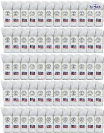 Yacht & Smith Men's Wholesale Bulk Cotton Socks, With Free Shipping Size 10-13 (white Usa) 72 pack