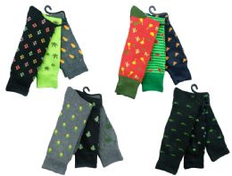Mens Funky Printed Dress Socks, Mixed Patterns 12 pack