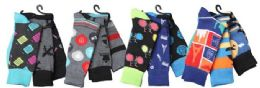 Mens Elegant Patterned Dress Socks 12 pack