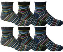 Yacht & Smith Mens Cotton Quarter Ankle Socks, 6 pack