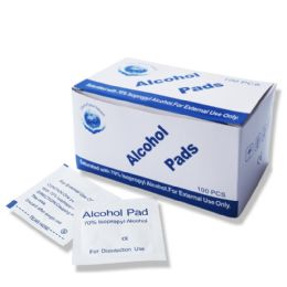 70% Isopropyl Wholesale Alcohol Pads , First Aid Cleaning Pads 500 pack
