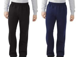 Men's Fruit Of The Loom Sweatpants, Size Large Bulk Buy 24 pack
