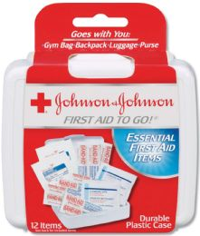 Johnson And Johnson 12-piece Mini First Aid Kit 336 pack