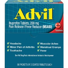 Advil Pain Reliever Single Dose Packets 50 Pack 24 pack