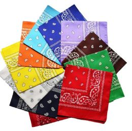 Assorted Cotton Paisley Bandana Mixed Prints, Mixed Colors Bulk Bandannas 3600 pack