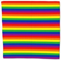Cotton 22x22 Rainbow Bandana 600 pack