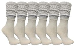 Yacht & Smith Womens Cotton Slouch Socks, Womans Knee High Boot Socks 6 pack