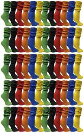 Yacht & Smith Womens Cotton Slouch Socks, Womans Knee High Boot Socks (60 Pack Assorted) 60 pack