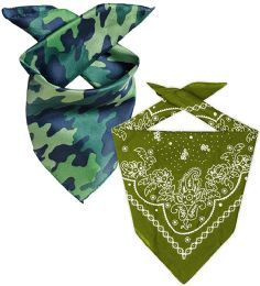 Camo And Army Green Cotton Bandanna 22x22 Inch Cotton Free Shipping