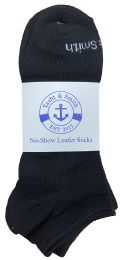 Yacht & Smith Mens Cotton Low Cut No Show Loafer Socks Size 10-13 Solid Black 60 pack