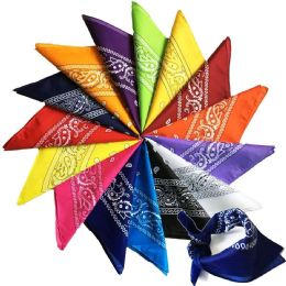 Yacht & Smith Assorted Colors Cotton Paisley Bandana, Bulk Scarf Headband Handkerchiefs 60 pack