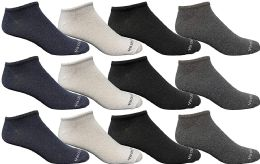 Yacht & Smith Wholesale Men's Cotton Shoe Liner Training Socks Size 10-13 (assorted, 12) 12 pack