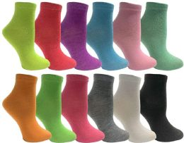 Yacht & Smith Womens Low Cut Neon Ankle Socks 12 pack