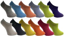 Yacht & Smith Womens Foot Ped Neon Ankle Socks 12 pack