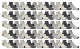 Yacht & Smith Men's Cotton Sport Ankle Socks Size 10-13 Packed Assorted Colors 60 pack